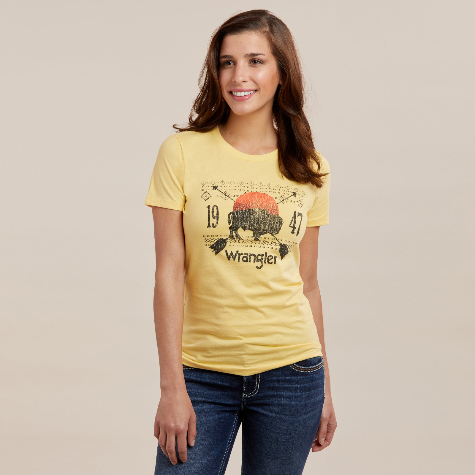 Ladies Short Sleeve Buffalo T-Shirt from Wrangler