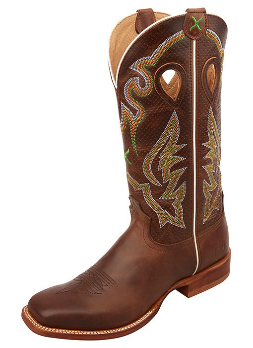 Men's Ruff Stock Boot - Chocolate/Chocolate from Twisted X