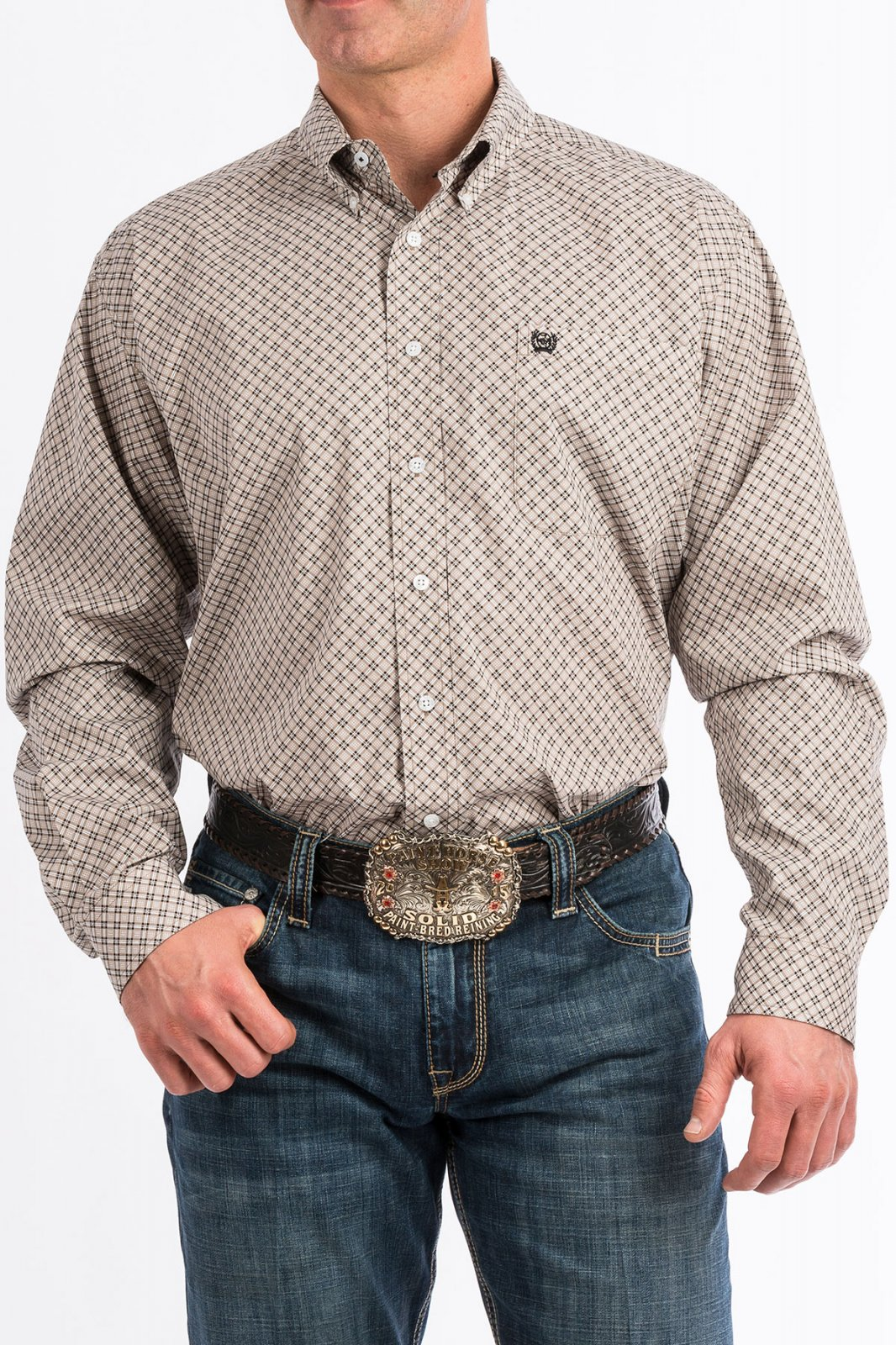Men's Long Sleeve Plaid Woven from Cinch