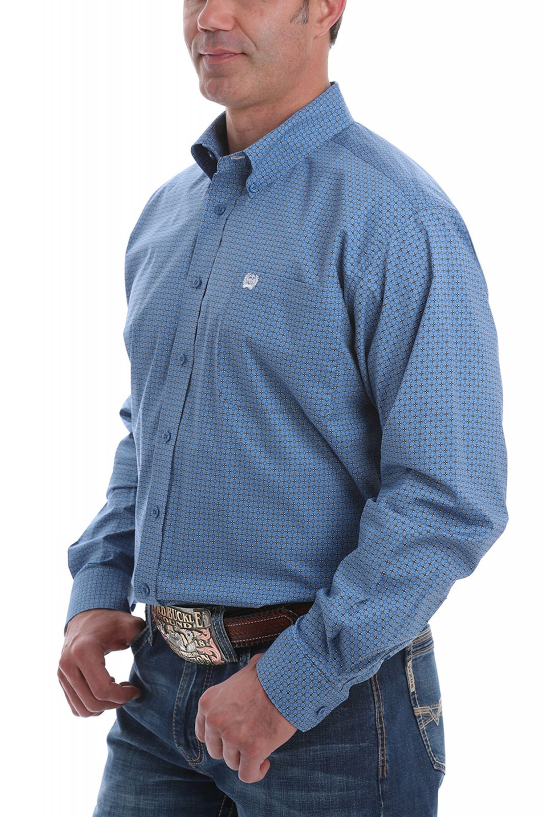 Long Sleeve Print Woven from Cinch