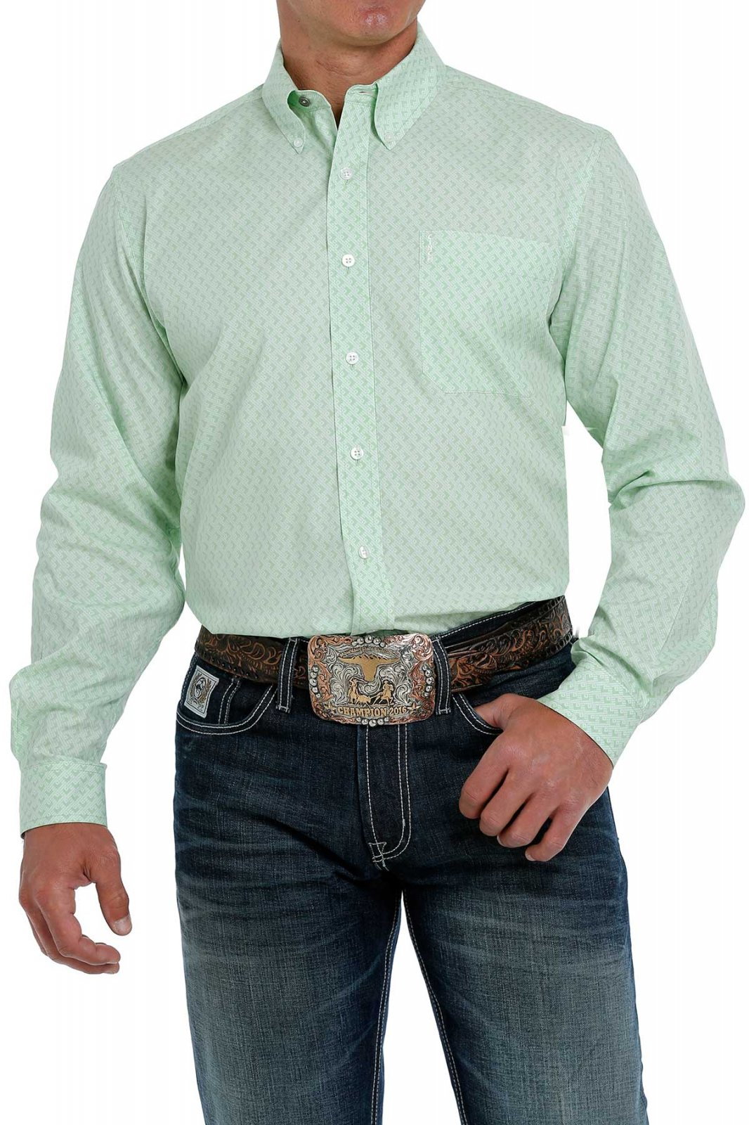 Long Sleeve Modern Fit Printed Woven from Cinch
