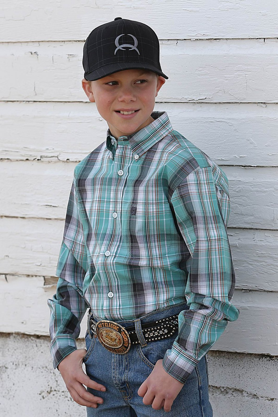 Boy's Long Sleeve Plaid Woven from Cinch