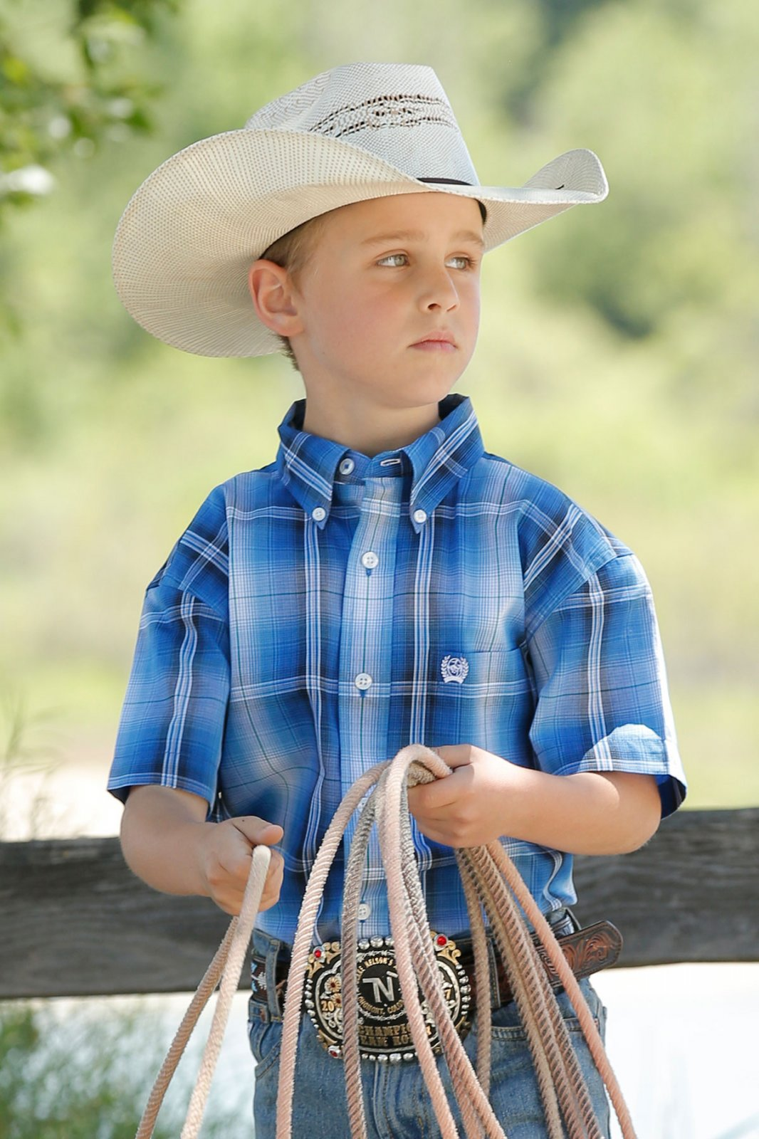 Boys Plaid Woven from Cinch
