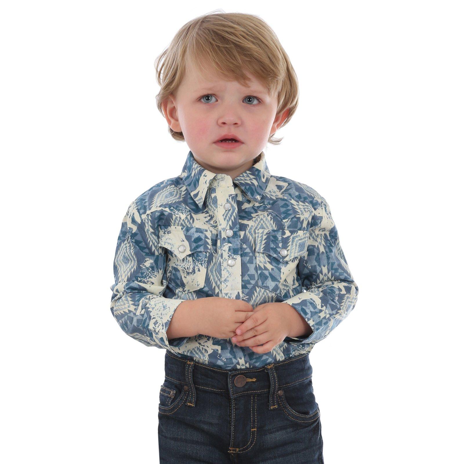 Infant Pearl Snap Bodysuit from Wrangler