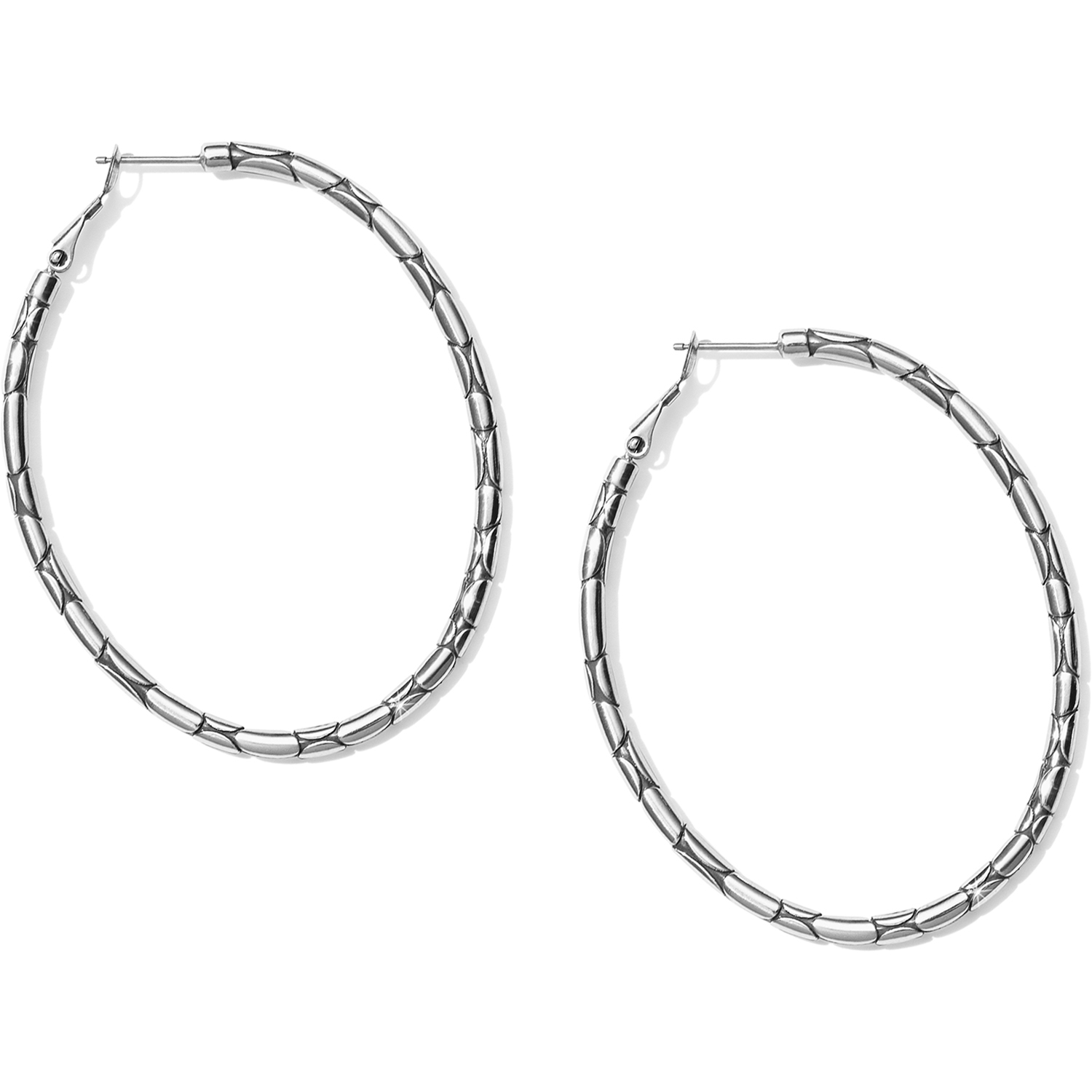Pebble Large Oval Hoop from Brighton