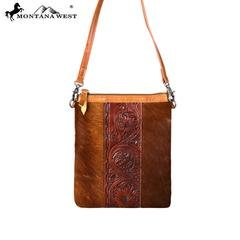 Hair-On Leather Crossbody from Montana West