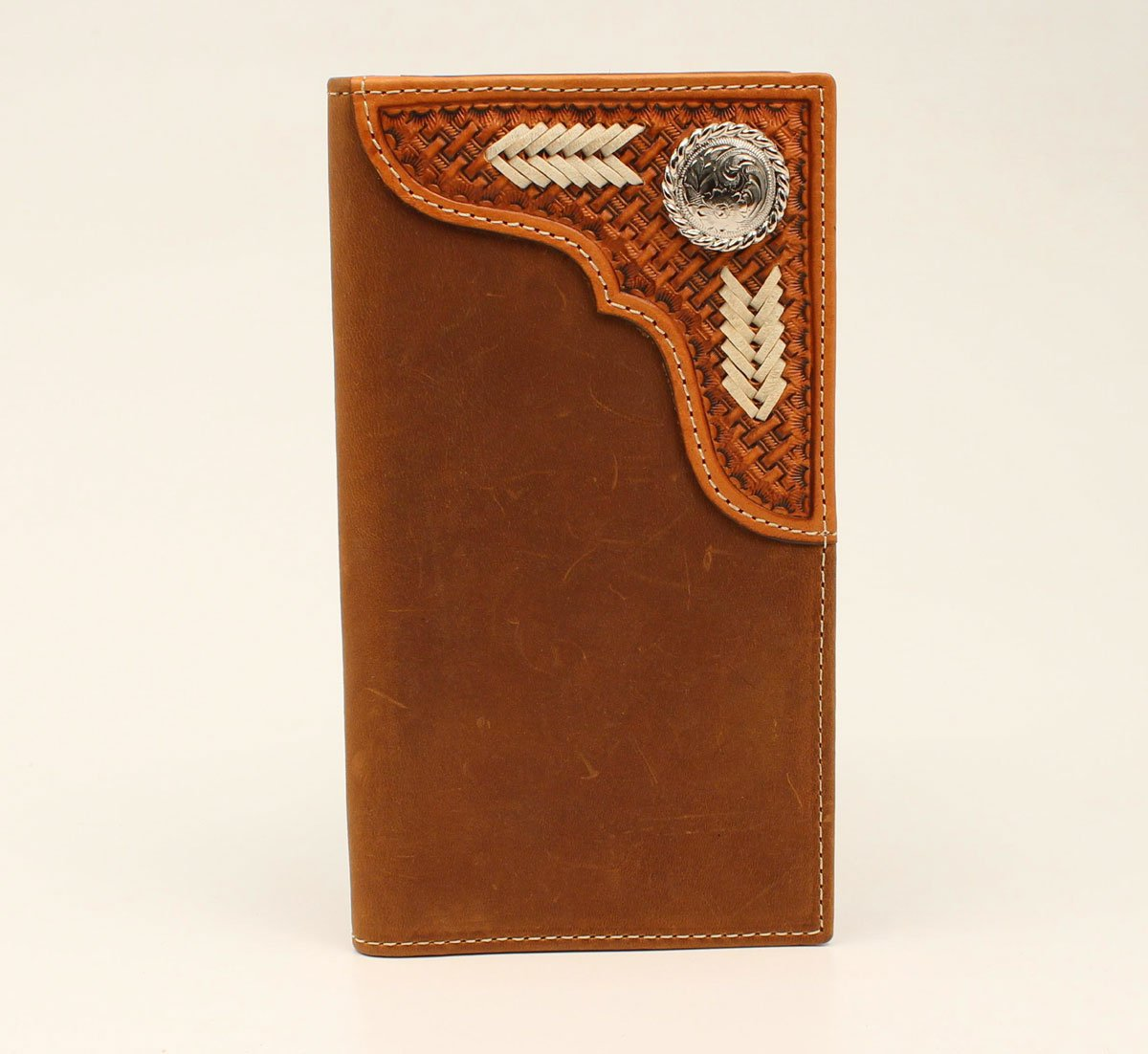 Basket Weave with Raw Lacing Rodeo Wallet from Nocona