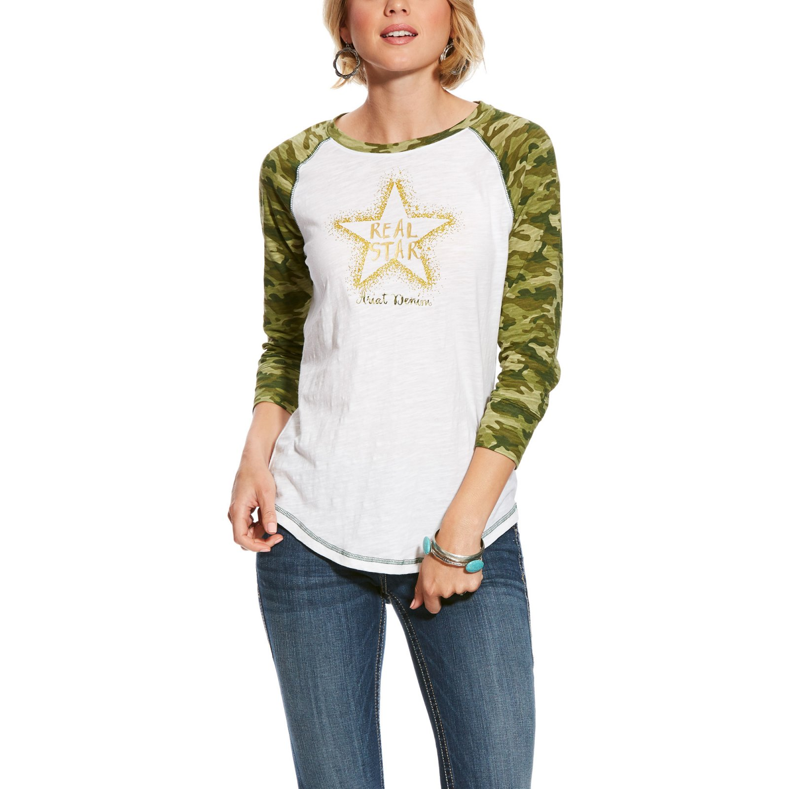 Ladies Real Camo Tee Shirt from Ariat