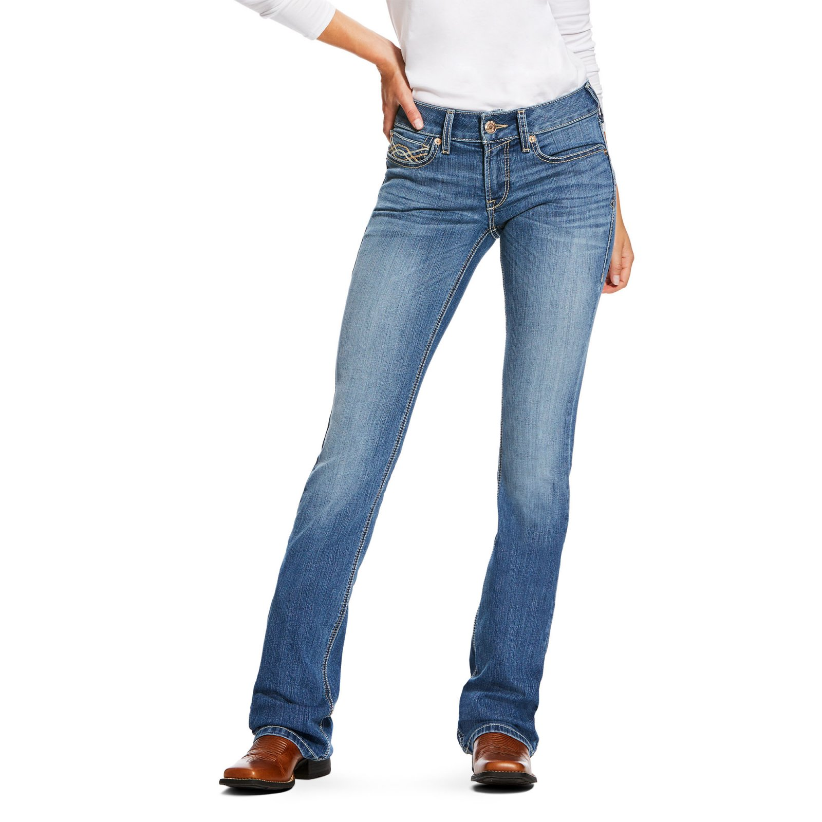 REAL Crossroads Mid-Rise Jean from Ariat