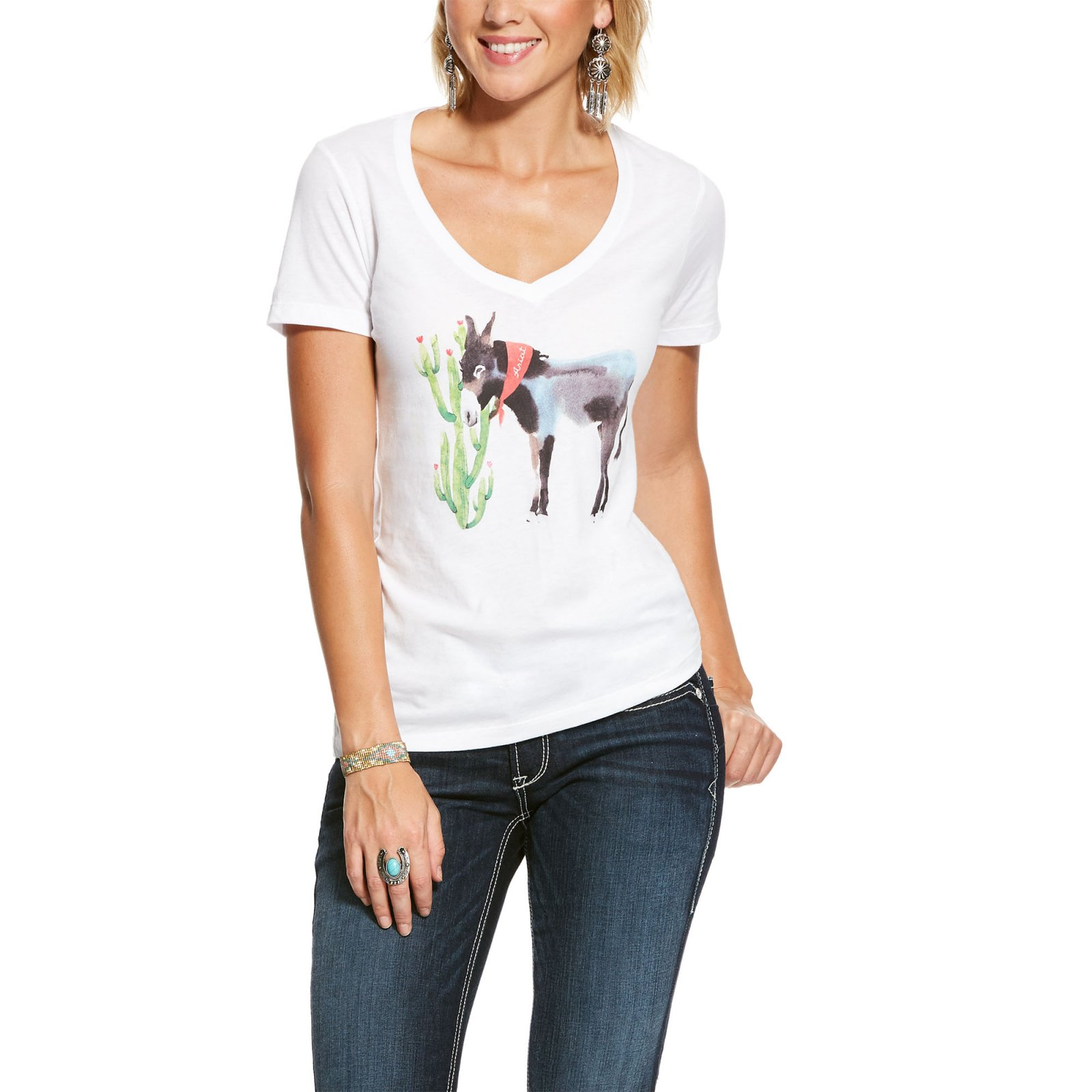 Ladies Short Sleeve Mule T-Shirt from Ariat
