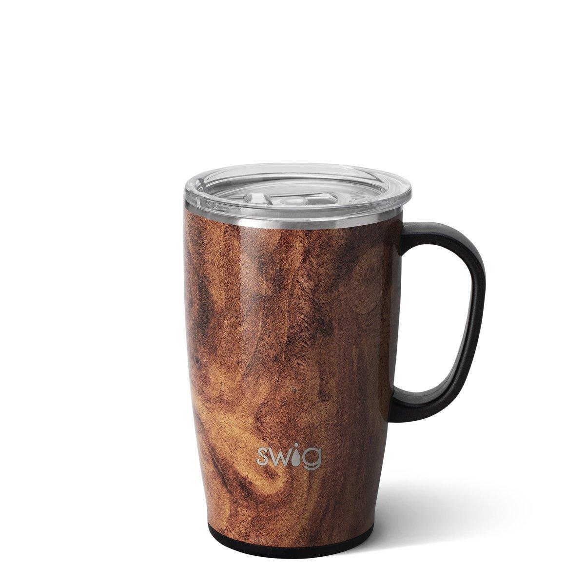 Swig Brown Swirl 18oz Travel Mug