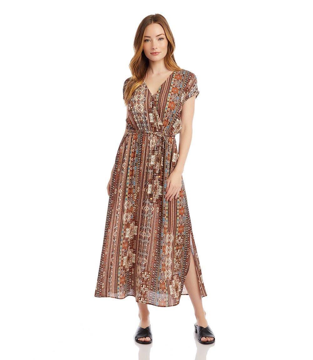 Crossover Printed Dress from Karen Kane