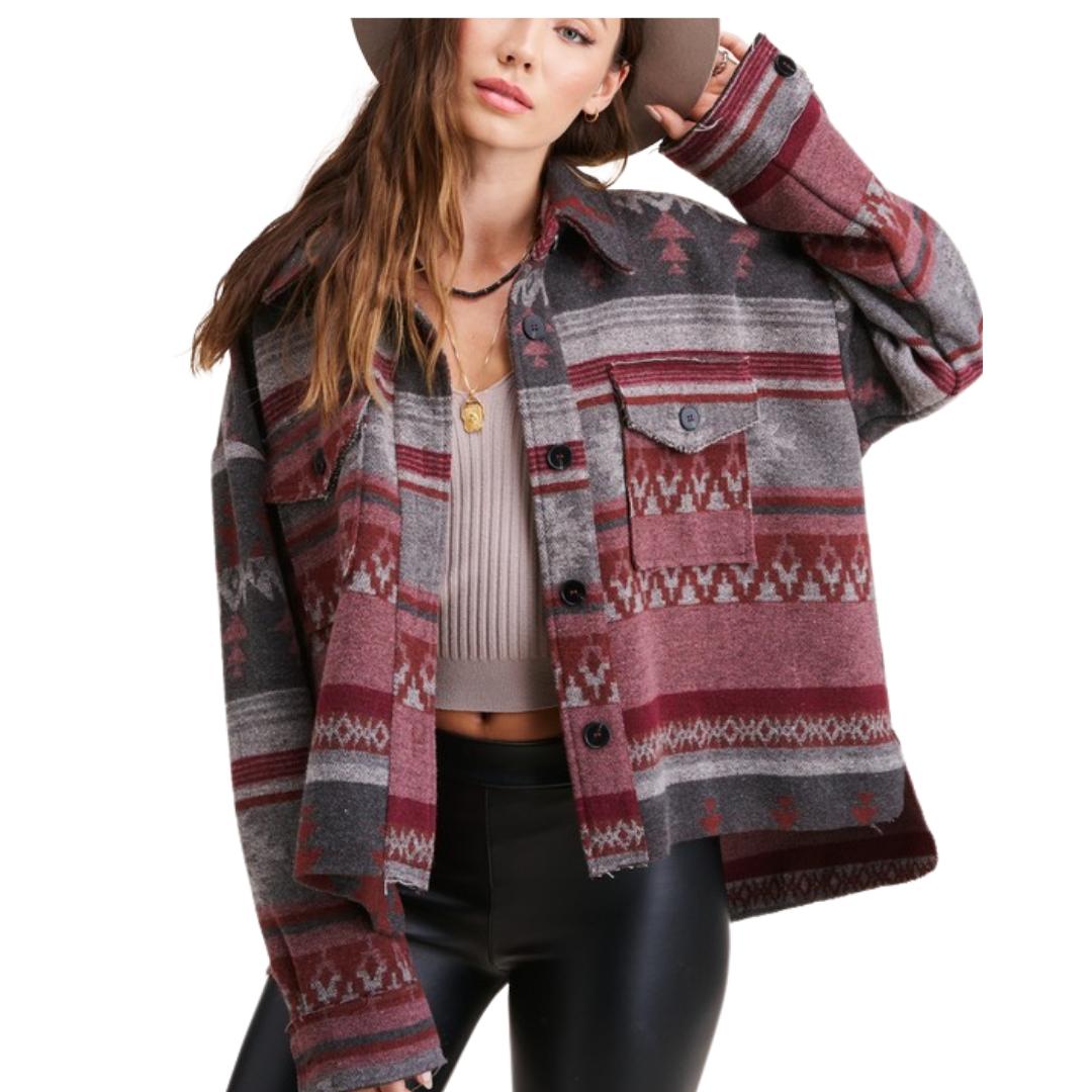 Aztec Shirt Jacket