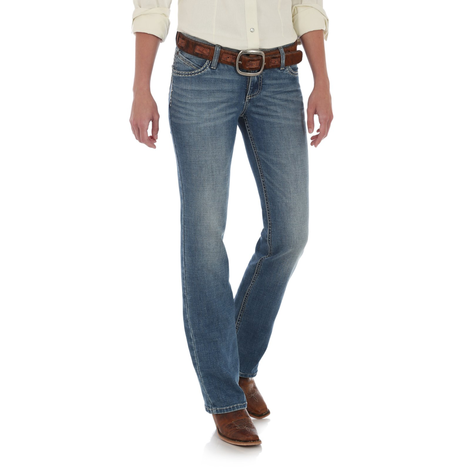 Ladies Shiloh Ultimate Riding Jean from Wrangler-Red Rock