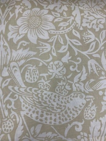 Backing Fabric - Strawberry Thief - Linen