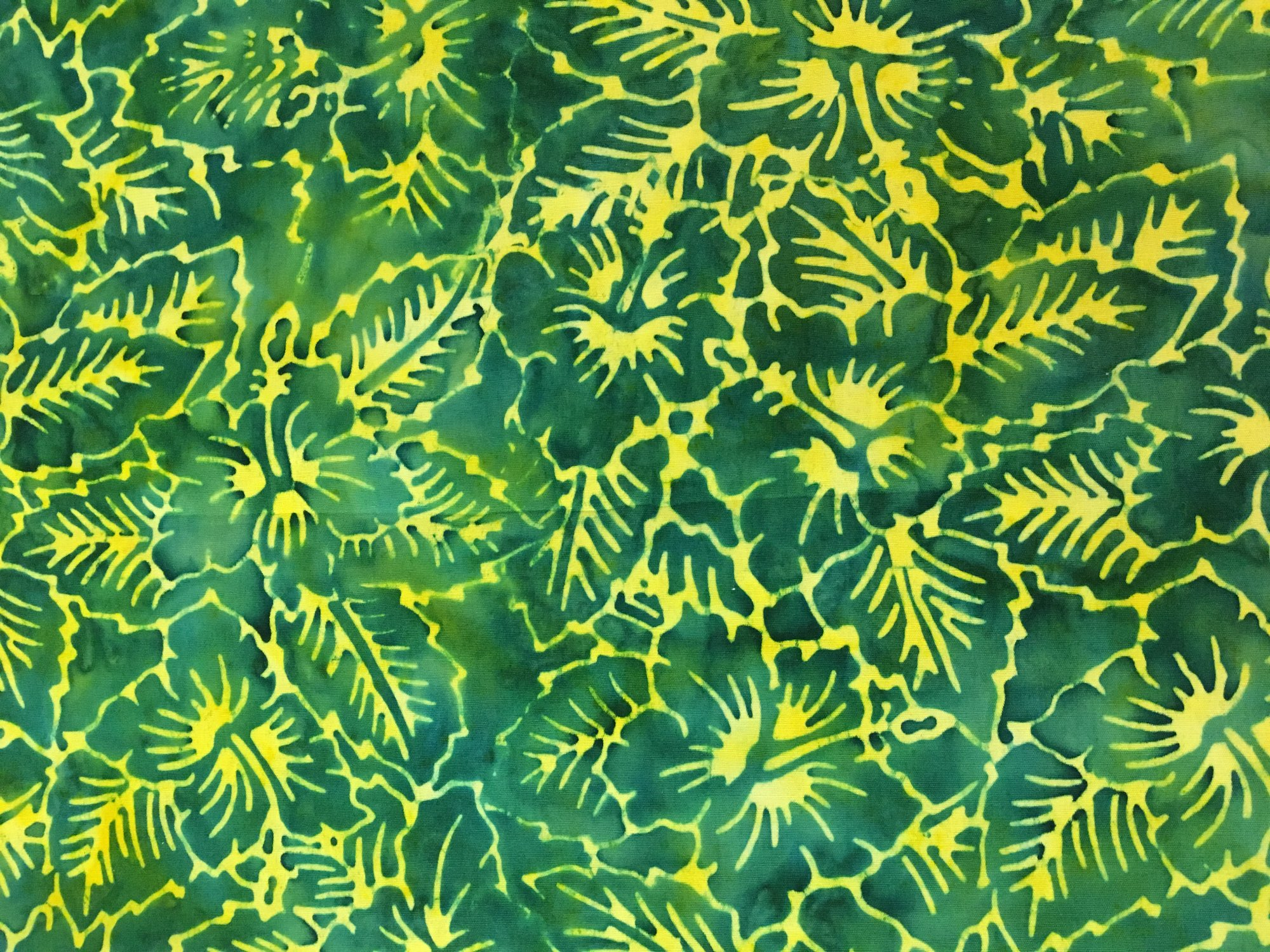 Batik Flat Fold Jungle Hibiscus