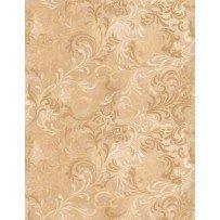 Essential Quiltbacks - 108 - Tan scroll print 1056-112