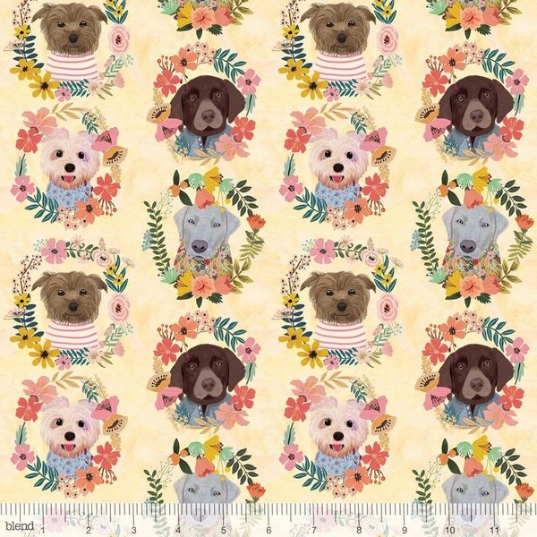 More Floral Pets - Puppy Wreaths Ivory 129.101.09.1