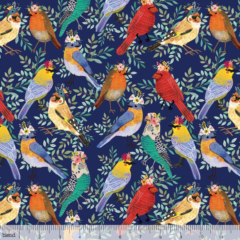 Birdie Collection - Birdie - Bird Meet Navy 129.103.02.2