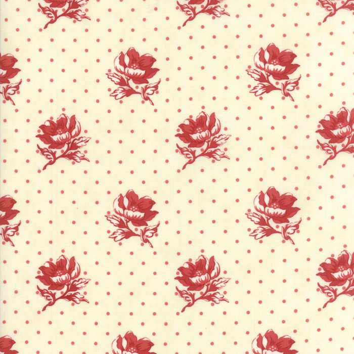 Farmhouse Reds by Minick & Simpson for Moda - Ivory Red - 14851-13