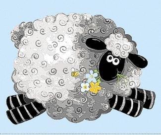 Lewe the Ewe by Susybee - Blue Sheep