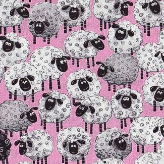 Lewe the Ewe by Susybee - Pink Sheep Allover