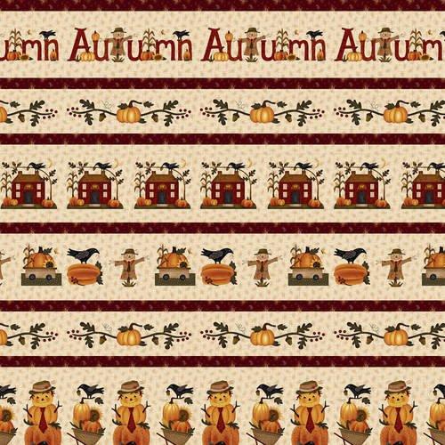 Buttermilk Autumn Q-2272-34 Cream Border Stripe