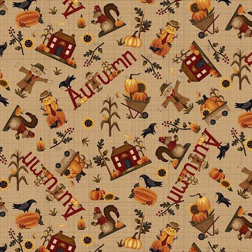 Buttermilk Autumn Q-2273-34 Tan Novelty Toss