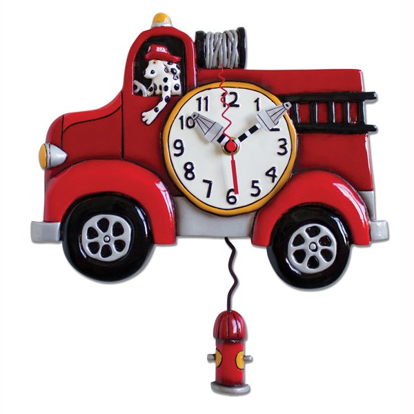 Clock - Big Red Firetruck