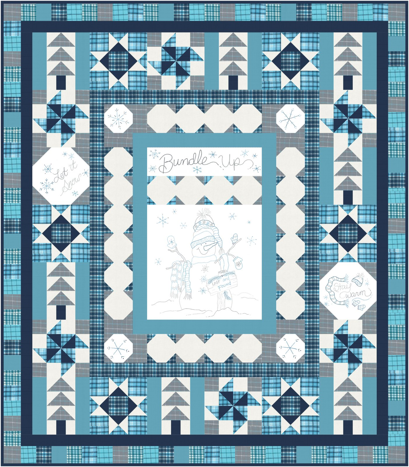 Bundle Up Block of the Month by Cindy Staub