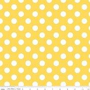 Cotton Basics Medium Dots - Yellow 360-50