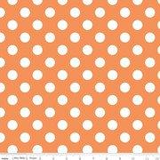 Cotton Basics Medium Dots - Orange 360-60