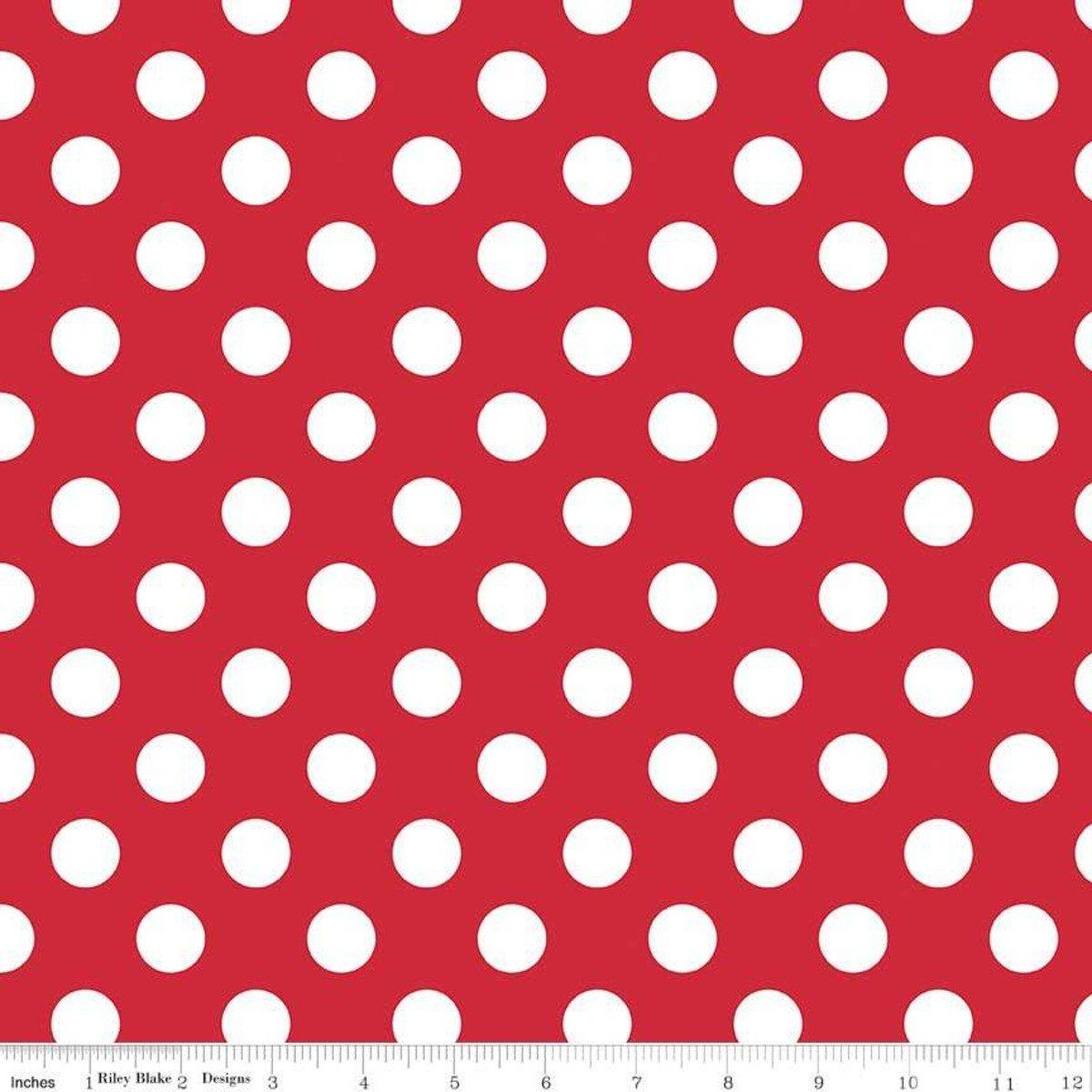 Cotton Basics Medium Dots - Red 360-80