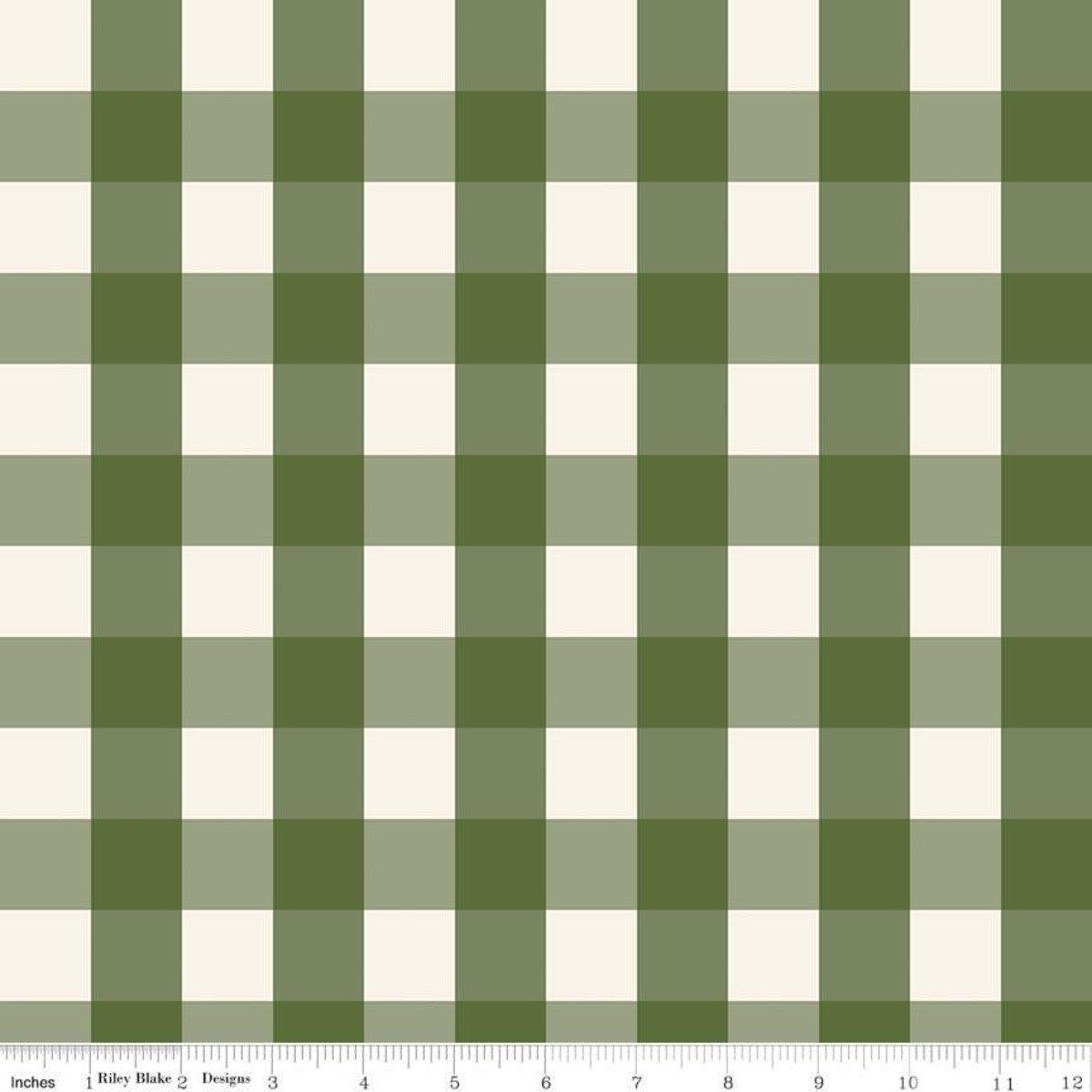 Winterberry Check Green