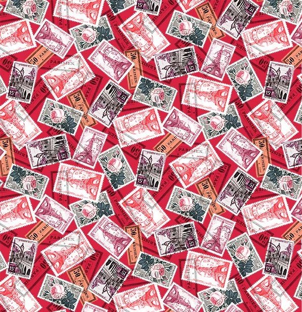 La Parisienne - Letters From Afar Cherry CX9219-REDX-D