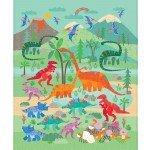 Rainbow Dino Panel 36 DC10037-TEAL-D