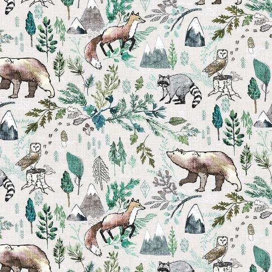 FOREST FABLE TAUPE MULTI DP90346-12