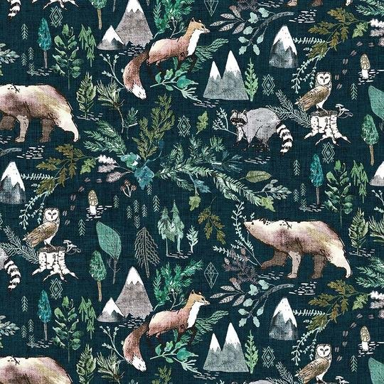 FOREST FABLE NAVY MULTI DP90346-49
