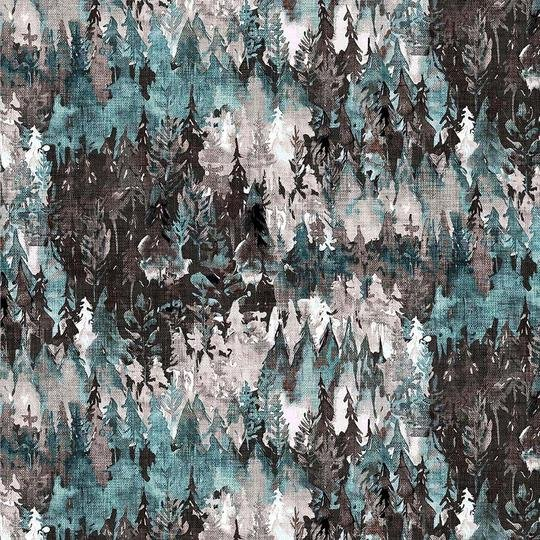 FOREST FABLE TEAL MULTI DP90347-65