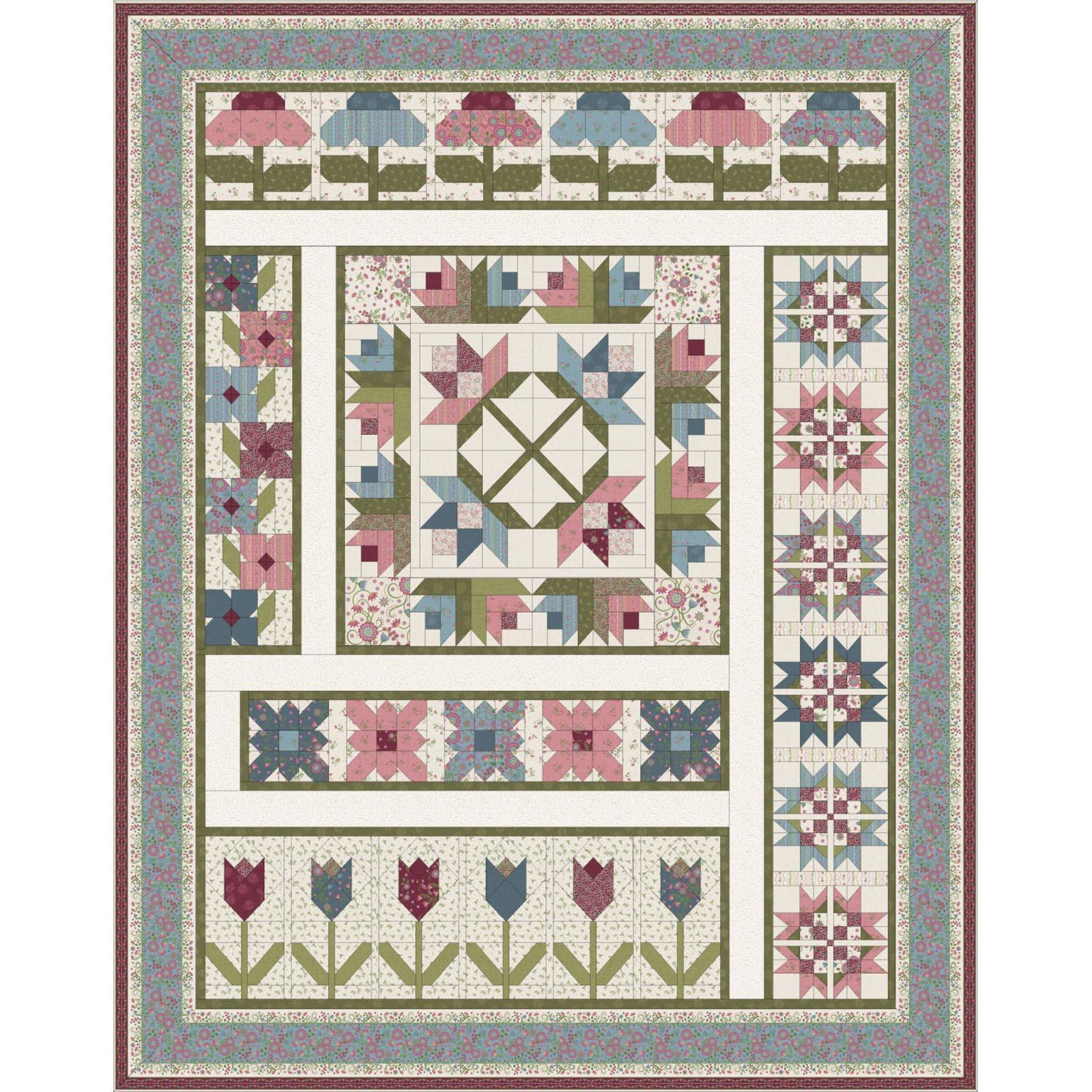 Flower Garden Block of the Month