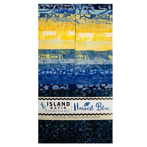 Island Batik 2.5 strips - Harvest Blue