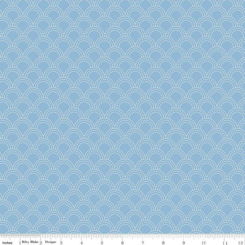 Something Borrowed Scallops Blue C8424
