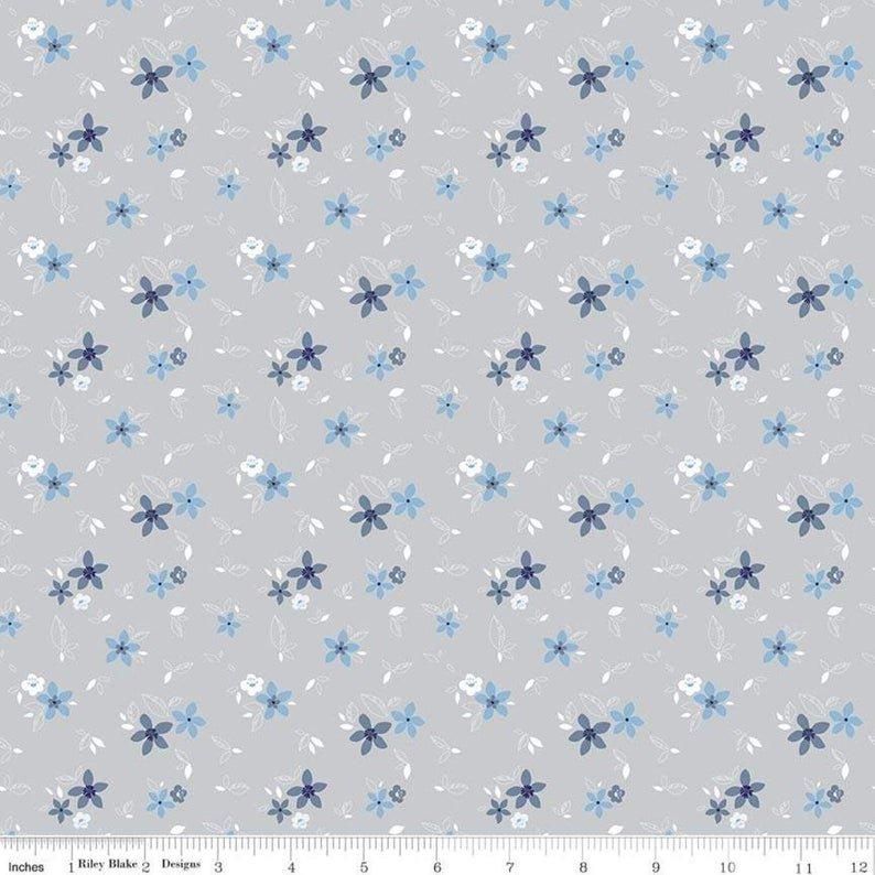 Something Borrowed Floral Gray C8425