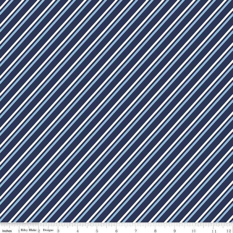 Something Borrowed Stripe Navy C8426