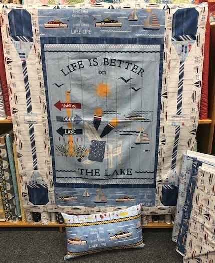Lake Life Quilt Sample by Wilmington Prints