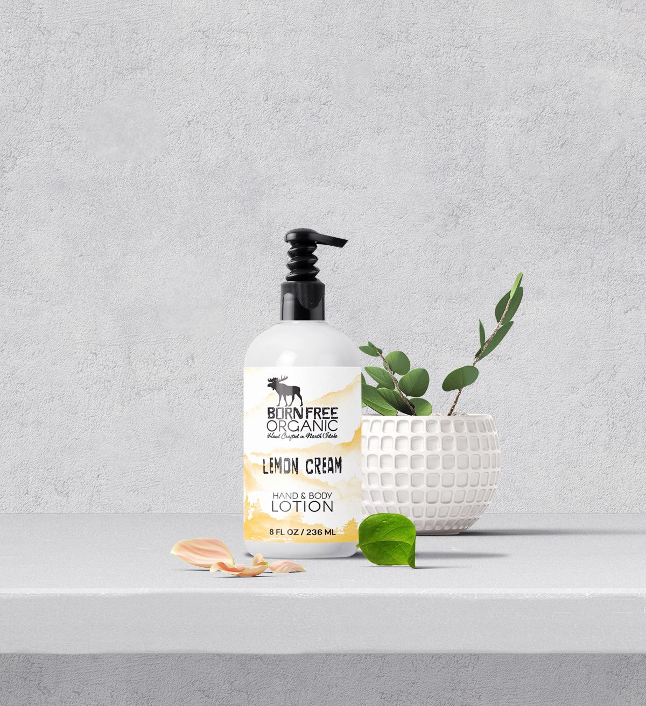 Lemon Cream Lotion by Born Free Organics
