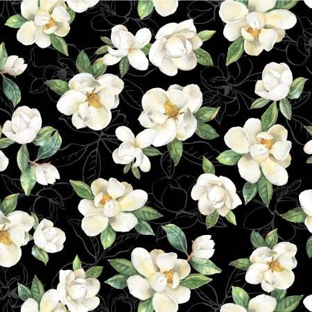 Magnolias - Black All Magnolias - 4252K