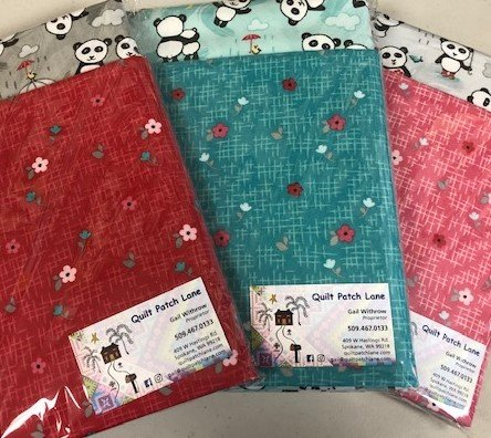 Panda Flannel Self Binding Receiving Blanket Kits