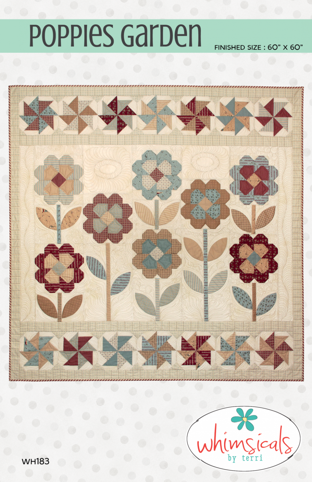 Poppies Garden Quilt Pattern