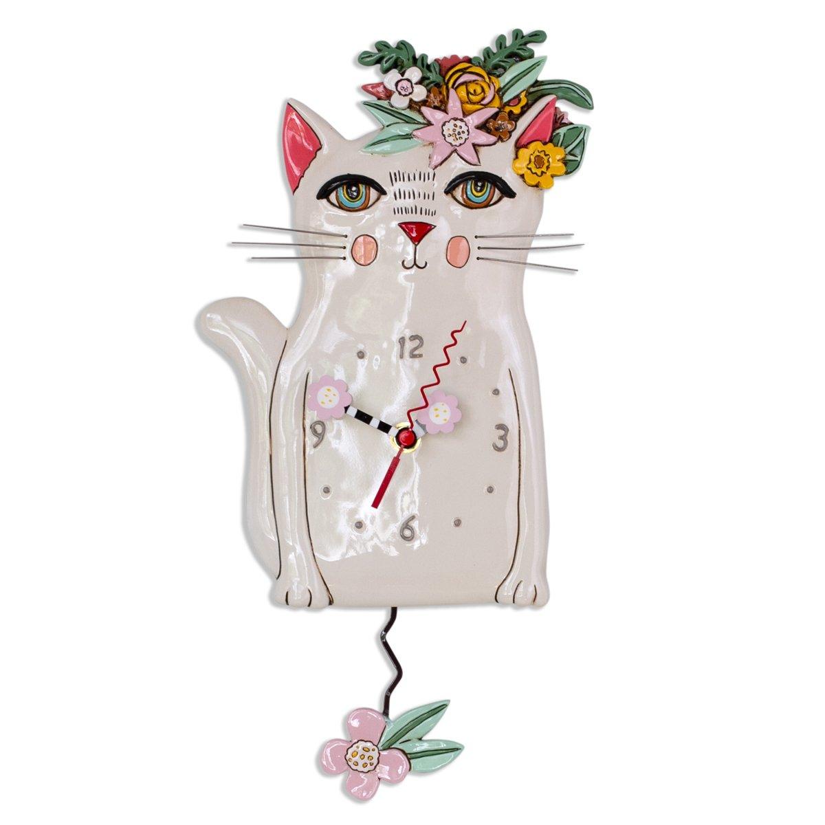 Clock - Pretty Kitty by Allen Designs